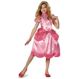 Princess Peach Costume Kids Mario Brothers Halloween Fancy D