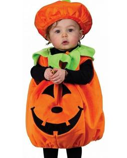 Pumpkin Costume Kids Toddler Baby SMALL Jack o Lantern Hallo