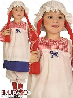 Rag Doll Girls Toddler Costume Kids Fancy Doll Dress Up Hall