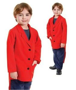 Red Kids Tailcoat Jacket Greatest Showman Ringmaster Fancy D