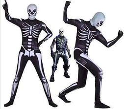 Riekinc Halloween Spandex Zentai Cosplay Costume Skull Troop