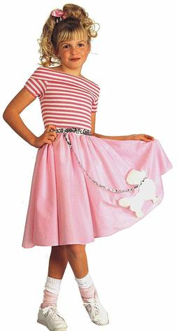 Rubie's Nifty Fifties Child's Costume, Small Pink Poodle Ski