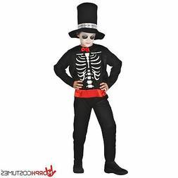 SALE Kids Skeleton Costume + Hat Boys Day of the Dead Fancy