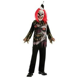Scary Clown Costume Kids Creepy Halloween Fancy Dress