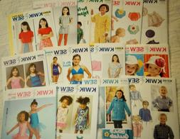 Kwik Sew Sewing Patterns Baby/Toddlers'/Kids' Clothing and A