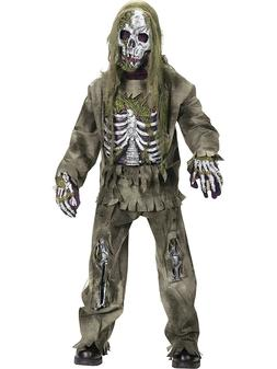 SKELETON UnDead ZOMBIE Halloween Costume Child's Medium 8-10