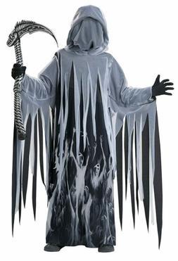 Soul Taker Grim Reaper Death Ghoul Black Fancy Dress Up Hall
