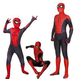Spider-Man Far From Home Kids Boys Peter Parker Zentai Cospl