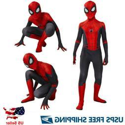Spider-Man Far From Home Kids Boys Spiderman Zentai Cosplay