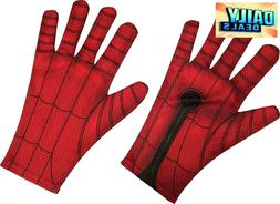 Spider Man Homecoming Costume Kids Childs Gloves Spiderman O