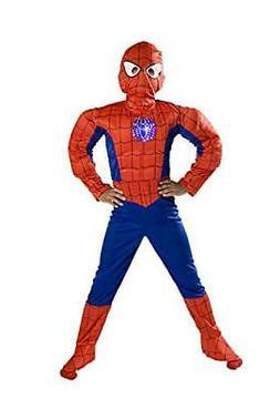 Monika Fashion world Spiderman Costume Boys Kids Light up Si