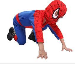 Spiderman Costume Superhero Cosplay Fancy Dress Halloween Pa