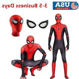 SpiderMan Far From Home Kids Boys Spider-man Zentai Child Co