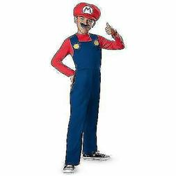 Super Mario Brothers Red Mario Classic Boy Kids Costume Hall