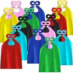 Superhero Capes and Masks for Kids Birthday Party - DIY Dres