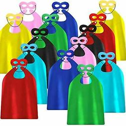 ADJOY Superhero Capes Masks Kids Birthday Party - DIY Dress