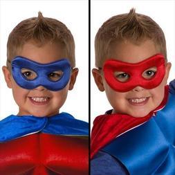Little Adventures Superhero Costume Mask for Kids - Red/Roya