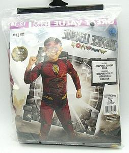The Flash Justice League Child Costume Padded Jumpsuit & Mas