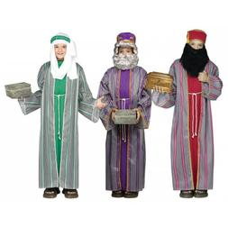 Three Wise Men Costume Kids Christmas Nativity Fancy Dress