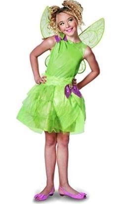 Disney- Tinker Bell Sparkle Costume Halloween S/M 7/8 Kids G