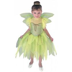 Tinkerbell Costume Toddler Kids Halloween Fancy Dress