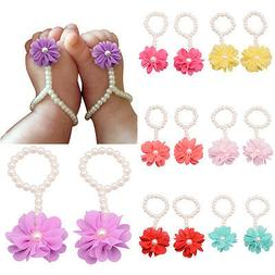 Toddler Girl Kids Baby Foot Flower Sandals Footwear Accessor