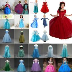 f18ad3025 Toddler Kids Girl Frozen Anna Elsa Princess Party Fancy Dres
