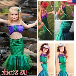 Toddler Kids Little Mermaid Set Girl Princess Dress Party Co