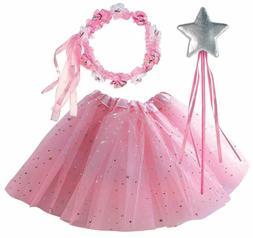 OLYPHAN Tutu Costumes for Kids: Pink Tutu Costume Toddler Gi
