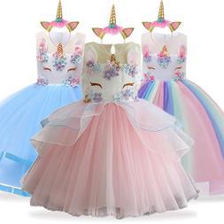 Unicorn Dress Christmas <font><b>Kids</b></font> Dresses For