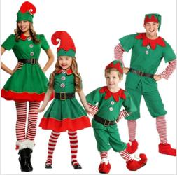 Unisex Adult Children Christmas Elf Dress Santa's Little Hel