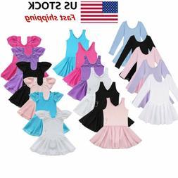 us girls gymnastics ballet dress kids leotard