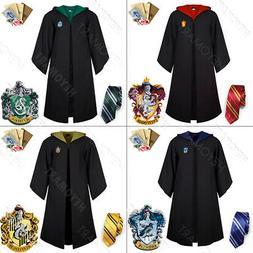 US Harry Potter Hogwarts Adult Child Robe Cloak Scarf Hallow