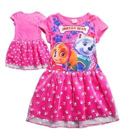 US STOCK Baby Kids Girls Paw Patrol Everest Skye Skirt Fancy