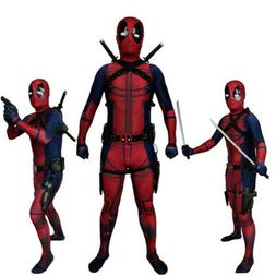 US!Superhero Deadpool 2 Adults/Kds Halloween Cosplay Tight C