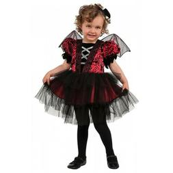 Vampire Girl Costume Kids Toddler Bat Halloween Fancy Dress