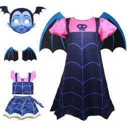 Vampirina Cosplay Costume Kids Girls Dress Skirt Wings Mask