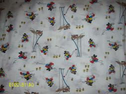 VINTAGE Walt Disney Knit Fabric Mickey Mouse & Pluto 2 1/2 Y