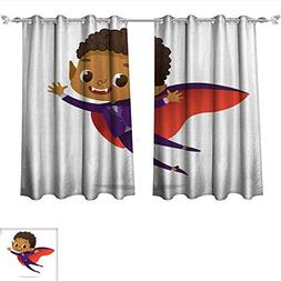 Waterproof Window Curtain Kids Costume Party African America