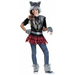 Werewolf Costume Kids & Tween Girls Wolf Halloween Fancy Dre