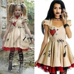 Women Halloween Costume Voodoo Doll Costumes for Adults&Chil