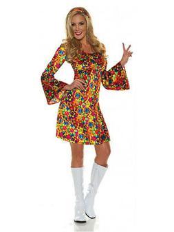 Women's 60s Hippie Summer Flower Child Costume