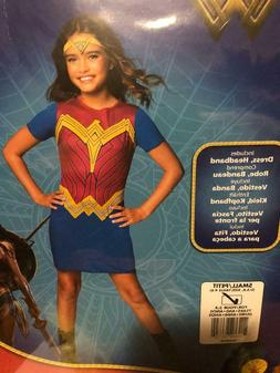 Wonder Woman Costume - Rubies Small size 4-6 , Kids Children