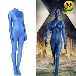 X-Men Mystique Cosplay Costume Raven Darkholme Jumpsuit Hall