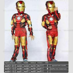 XMAS Costume For Kids Deluxe Iron Man Jumpsuit Boys Cosplay