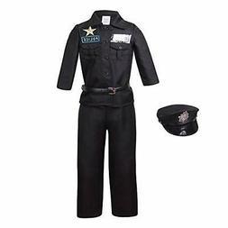 yolsun Police Officer Costume Kids Deluxe Halloween Dress up