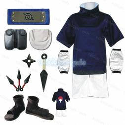 Young Uchiha Sasuke Cosplay Costume Naruto Mens Child Clothi