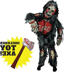 zombie deluxe costume for child with bloody